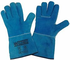 CE Cat 2 2 pairs x SWP Lined Red Welders Gauntlets // Gloves Mig Welding 14/'/'