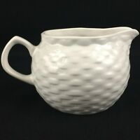 Vintage Creamer by Tabletops Unlimited Basket Wreath White