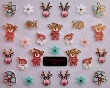 FdF 6122 Sticker adesivi natalizi per unghie manicure NATALE Christmas nail art