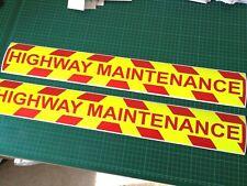 Highway Maintenance Highways Road Works Magnet Chevron Sticker 620mm X 1