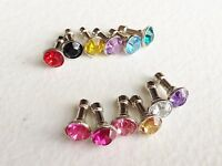 BLING GEM CHARM 3.5mm earphone jack dust plug port cap FOR apple iphone 6 5C 4S