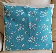 Pretty Teal Blue Cotton/Linen Cushion Cover  45x45cm