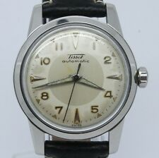 VINTAGE Tissot Bumper Automatic 34mm Steel Mens Watch 28.5-21 Great 2 Tone Dial