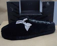 INC International Concepts Women's Slippers XL 11-12 Soft Black Faux Fur