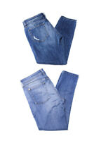 DL1961 Womens Azalea Relaxed Skinny Cropped Jeans Blue Cotton Size 30 29 Lot 2