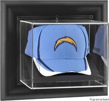Football Cap Display Case Wall Mount (NFL-150-CU) Choice Of Wood Or Black Frame