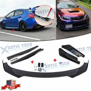 Front Bumper Lip Spoiler Diffuser Body Kits / Side Skirt /Rear Lip For Subaru