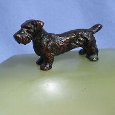 bronze SEALYHAM CESKY terrier Vienna Austria dog ring tray