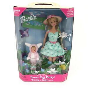Barbie Doll and Kelly Easter Egg Party Gift Set Special Edition 1999