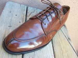COLE HAAN Mens Dress Shoes Rich Mahogany Brown Casual Split Toe Oxford Size 9.5D
