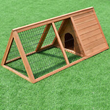 Wooden Outdoor A-Frame Rabbit Hutch Bunny Pig Small Animal Pet Backyard Coop