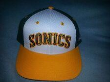 Seattle SuperSonics adidas Hardwood Classics Jersey Hook Two-Tone Snapback hat