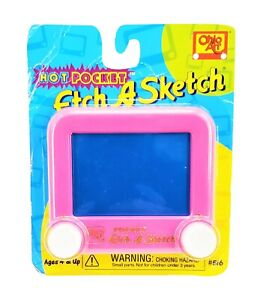 Ohio Art Mini Etch A Sketch Hot Pocket Drawing Toy Neon Hot Pink Blue Pad New
