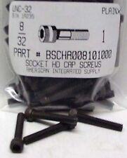 #8-32x1 Hex Socket Head Cap Screws Alloy Steel Black (33)