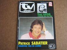 TV JOUR 85/52 (25/12/85) PATRICK SABATIER YVES LECOCQ