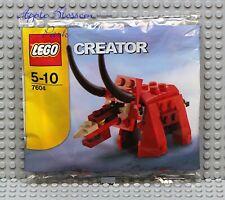 NEW Lego Creator Mini DINOSAUR Polybag Set 7604 - Red Triceratops Dino RARE