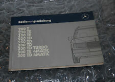 Mercedes W124 200 T - 300 TD 4Matic - Bedienungsanleitung 1245840997