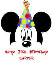 DISNEY MINNIE  MICKEY MOUSE  PERSONALIZED BIRTHDAY::::::T-SHIRT IRON ON TRANSFER
