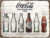 Coca Cola Flasche Evolution Große Geprägt Wand Metallschild 400mm x 300mm (Na )
