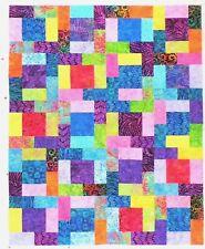 Batik Patchwork Quilt Top ~   (220)