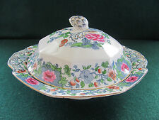ANTIQUE F. WINKLE WHIELDON WARE COVERED VEGETABLE DISH W ACORN FINIAL / ENGLAND