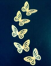 x 28 Yellow Edible Rice Paper/Wafer Butterfly Cake Toppers/decorations Birthday