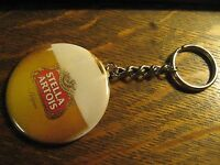 Stella Artois Keychain - RePurposed Advertisement Backpack Purse Clip Ornament