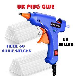 Glue Gun Hot Melt Electric Trigger DIY Adhesive Crafts 50 FREE GLUE STICKS UK