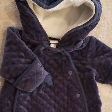 SWEET! NORDSTROM BABY NEWBORN DARK BLUE QUILTED SNOWSUIT REBORN