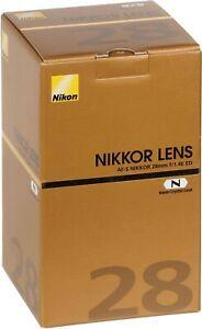 Nikon Nikon AF-S NIKKOR 28mm f/1.4E ED Lens. 2 YEARS WARRANTY.