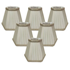 "Royal Designs Hexagon Empire Chandelier Shade,2.5"" x 5"" x 4.5"",Clip On- Set of 6"
