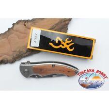 Coltello da caccia Browning in acciaio e manico in legno W17