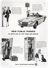 1960 BELL TELEPHONE BOOTHS Replica Metal Sign - PEOPLE CALL AT PAY PHONE BOOTH