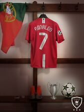 Manchester United Home Shirt 2007/09 *RONALDO 7* Large *Moscow* *UCL Winners*