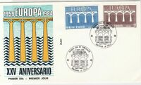 Andorra Europa 1984 25th Ann. Bridge Slogan Cancel FDC Stamps Cover  ref 22118