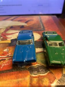 model motoring slot cars two body 69 the judge green and blue see picture