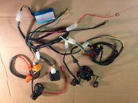 WIRING LOOM HARNESS ELECTRIC START + STATOR PLATE PIT BIKE QUAD MONKEY BIKE TYP2