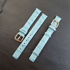 Apollo Genuine Embossed Alligator TURQUOISE  BLUE Leather 12mm NEW Watch Strap