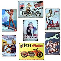 20x30CM Metal Vintage Tin Sign Poster Plaque Bar Pub Club Wall Home Retro Decor