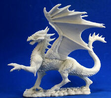 DRAGON ARGENT - BONES REAPER figurine miniature jdr rpg d&d winged ailé silver