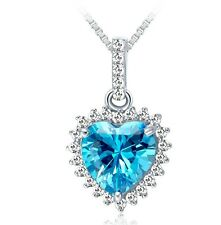 TITANIC Swarovski Elements Crystal Heart of the Ocean Necklace Pendant Gift S2