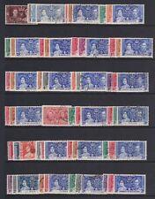 1937 CORONATION COMPLETE OMNIBUS SET 202v FINE USED.