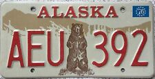 GENUINE Alaska Standing Bear Grizzly USA License Licence Number Plate AEU 392