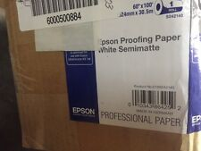"Genuine Epson S042140 white Proofing Paper Semi-Matte 10 mil 60"" x 100' roll NEW"