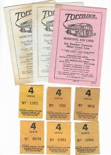Vintage TORRANCE MUNICIPAL BUS LINES Schedule Fares & Receipts LOS ANGELES 1950s