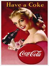 Hanno una Coca Cola, stile retrò in metallo Frigo Calamita, 100 mm x 75 mm NOVITA 'REGALO