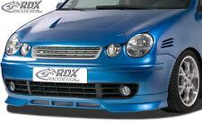 RDX Frontspoiler VW Polo 9N Front Spoiler Lippe Vorne Ansatz PUR ABS
