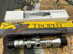 Bushnell Trophy Rifle Scope 3-9x40 Wide Angle Satin Silver Rifle Scope