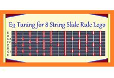 E9 TUNING FOR 8 STRING LOGO REFRIGERATOR MAGNET