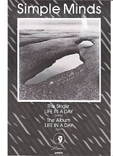SIMPLE MINDS Life in a Day UK magazine ADVERT / mini Poster 11x8""